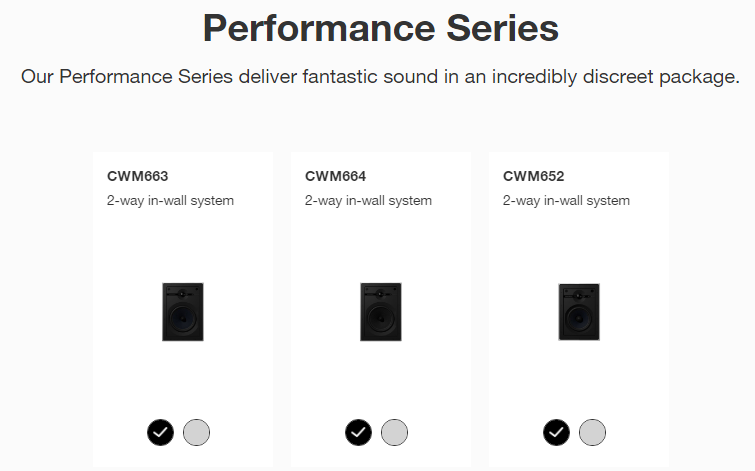 B&W-in-wall-performance-series