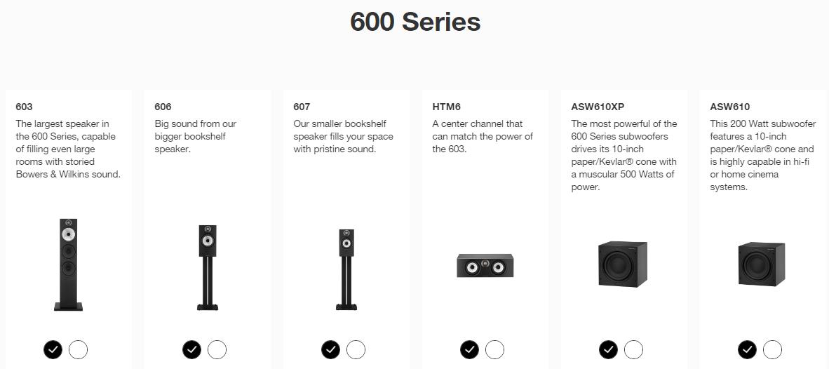 B&W-600-Series